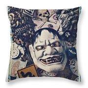 Devil Mask Throw Pillow