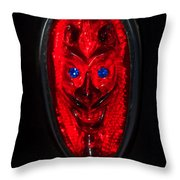 Devil With Sapphire Eyes Throw Pillow