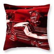 Devilish Hot Rod Throw Pillow