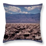 Devil's Golf Course At Death Valley Throw Pillow