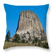Devils Tower Wyoming -2 Throw Pillow