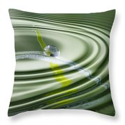Dew Bead On The Blade Of Grass Throw Pillow