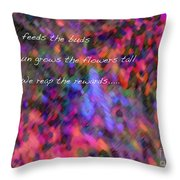 Dew Haiku Throw Pillow