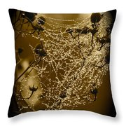 Dewdrop Cameo Throw Pillow by Carol Groenen
