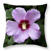 Dewey Hibiscus Throw Pillow