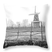 Dezwaan Windmill In Holland Michigan During November Throw Pillow