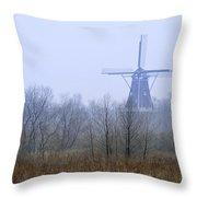 Dezwaan Windmill In Holland Michigan No. 105 Throw Pillow