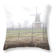 Dezwaan Windmill In Holland Michigan No.232 Throw Pillow
