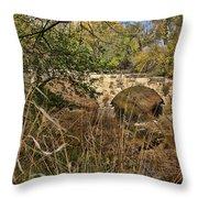 Diamond Creek Double Arch Bridge Throw Pillow