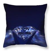 Diamond In Deep-blue Light Throw Pillow