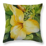 Dianne's Flower Throw Pillow