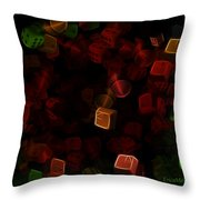 Dice And Letters Throw Pillow
