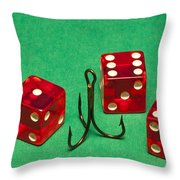 Dice Red Hook 1 A Throw Pillow