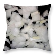 Diced Onions Throw Pillow