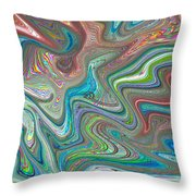 Digital Abstract Throw Pillow