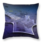 Digital-art E-guitar I Throw Pillow by Melanie Viola