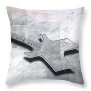 Digital-art E-guitar IIi Throw Pillow by Melanie Viola