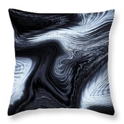 Digital Blue Art Throw Pillow