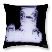 Digital Camera, X-ray Throw Pillow