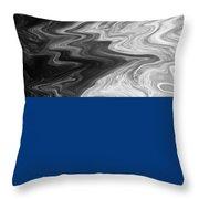 Digital Cloud Abstract Throw Pillow