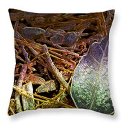 Digital Fall Throw Pillow