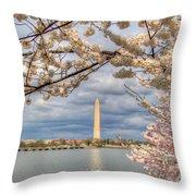 Digital Liquid - Cherry Blossoms Washington Dc 4 Throw Pillow