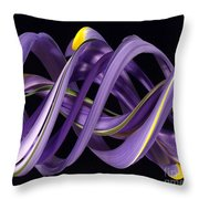 Digital Streak Image Of An Iris Throw Pillow