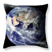 Digitally Enhanced Image Of The Full Throw Pillow