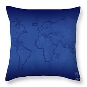Digitally Generated Image Of The World Throw Pillow