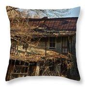 Dilapidated Farmhoue Throw Pillow