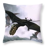 Dimorphodon Throw Pillow by William Francis Phillipps