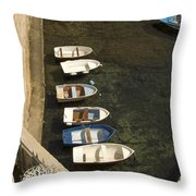 Dinghy's In Dubrovnik Throw Pillow