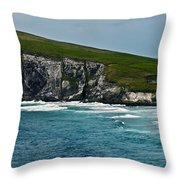 Dingle Coastline Throw Pillow