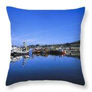 Dingle Harbour, Dingle, Co Kerry Throw Pillow