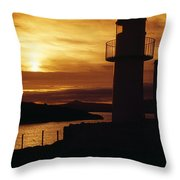 Dingle Lighthouse, Dingle Peninsula Throw Pillow