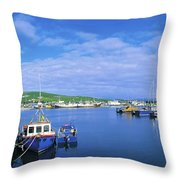 Dingle Town & Harbour, Co Kerry, Ireland Throw Pillow