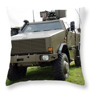 Dingo II Vehicle Of The Belgian Army Throw Pillow