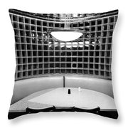 Dining In Black And White Throw Pillow