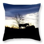 Dinner On The Hill Throw Pillow