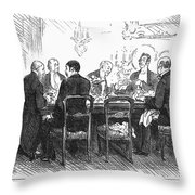 Dinner Party, 1880 Throw Pillow