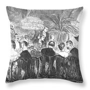 Dinner Party, 1885 Throw Pillow
