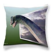 Dinosaur - Oof Throw Pillow