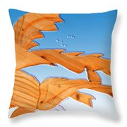 Dinosaur Fish With Bubbles Throw Pillow