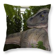 Dinosaur Inside The Conservatory Throw Pillow