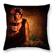 Dionysus Throw Pillow by Lourry Legarde