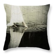 Dipping The Foot Throw Pillow