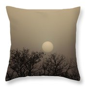 Dirt Storm Sunset Natural Color Of It Throw Pillow