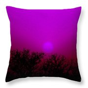 Dirt Storm Sunset With Added Colors Throw Pillow
