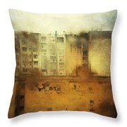 Dirty City View Throw Pillow