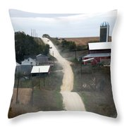 Dirty Road Throw Pillow